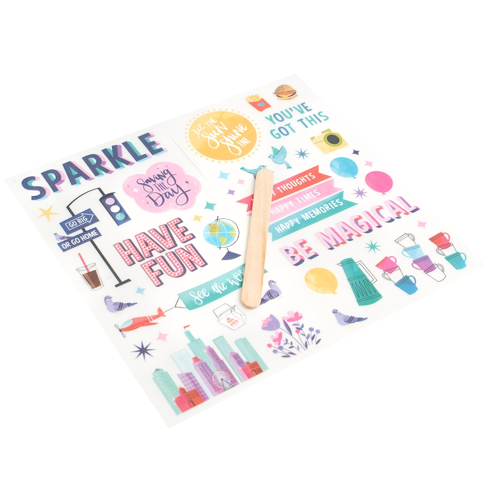American Crafts Shimelle RUB-ONS Sparkle City 351364 zoom image