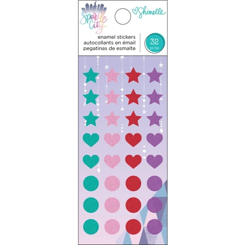 American Crafts Shimelle ENAMEL STICKERS Sparkle City 351334 Preview Image