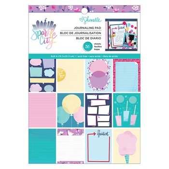 American Crafts Shimelle JOURNAL PAD Sparkle City 351327