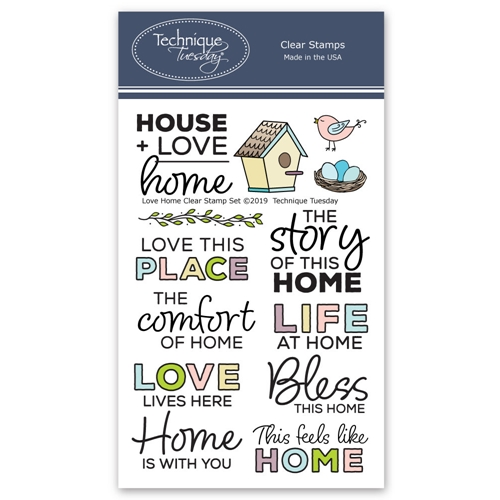Technique Tuesday LOVE HOME Clear Stamps 2766 Preview Image