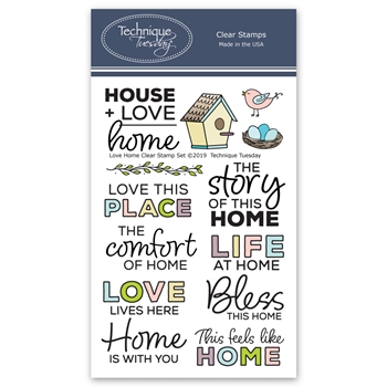 Technique Tuesday LOVE HOME Clear Stamps 2766