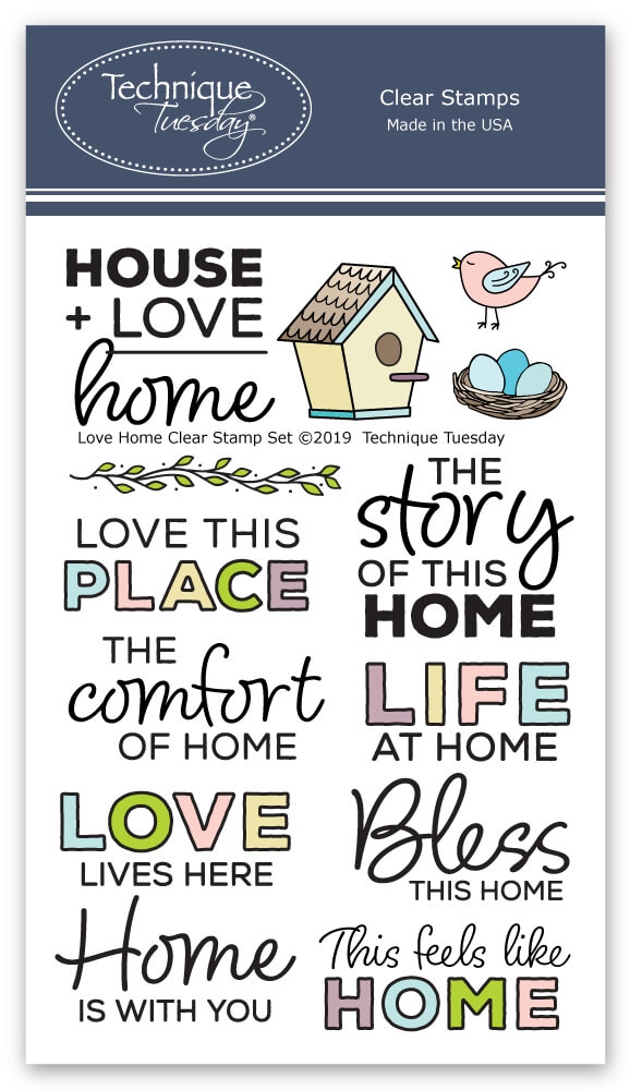 Technique Tuesday LOVE HOME Clear Stamps 2766 zoom image