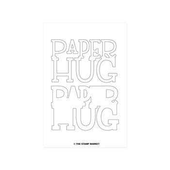 The Stamp Market PAPER HUG Die Set tsm2033