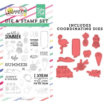 Echo Park SAY HELLO TO SUMMER Die And Stamp Set bs182044