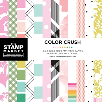 The Stamp Market COLOR CRUSH PATTERNS 6 x 6 Paper Pad tsmcc300