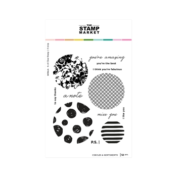 The Stamp Market CIRCLES AND SENTIMENTS Clear Stamp Set tsm104