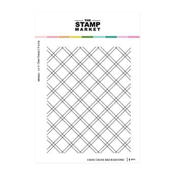 The Stamp Market CRISS CROSS BACKGROUND Clear Stamp Set tsm102