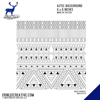 Erin Lee Creative AZTEC BACKGROUND Cling Stamp 11063