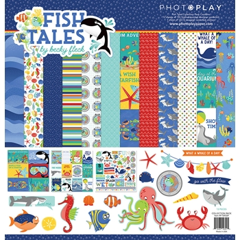PhotoPlay FISH TALES 12 x 12 Collection Pack fts9309