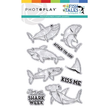 PhotoPlay FISH TALES SHARK Clear Stamps fts9313