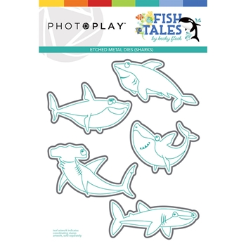 PhotoPlay FISH TALES SHARK Die Set fts9314