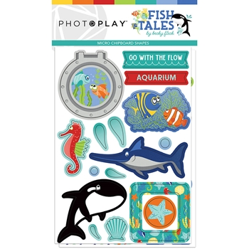PhotoPlay FISH TALES Micro Chipboard fts9315