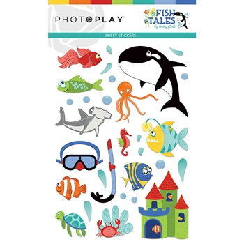 PhotoPlay FISH TALES Puffy Stickers fts9316