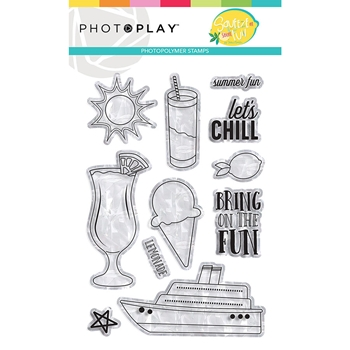 PhotoPlay SQUEEZE IN SOME FUN Clear Stamps sqf9327