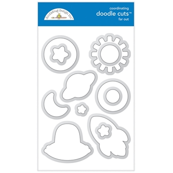 Doodlebug FAR OUT Doodle Cuts Dies 6340