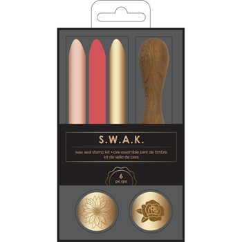 American Crafts SUNFLOWER ROSE Wax Seal Kit S.W.A.K. 352438