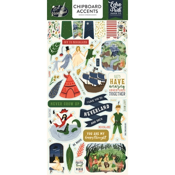 Echo Park LOST IN NEVERLAND Chipboard Accents lin179021