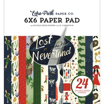 Echo Park LOST IN NEVERLAND 6 x 6 Paper Pad lin179023