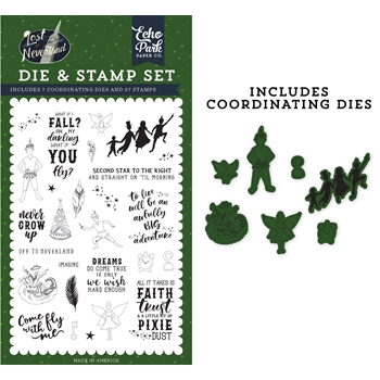 Echo Park NEVER GROW UP Die And Stamp Set lin179044