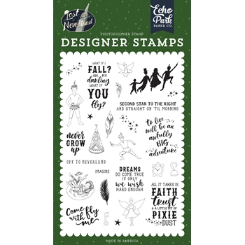 Echo Park NEVER GROW UP Clear Stamps lin179045