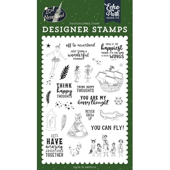Echo Park OFF TO NEVERLAND Clear Stamps lin179046