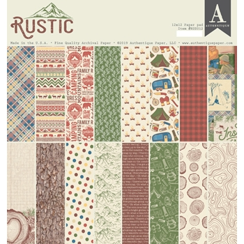 Authentique RUSTIC 12 x 12 Paper Pad rus012