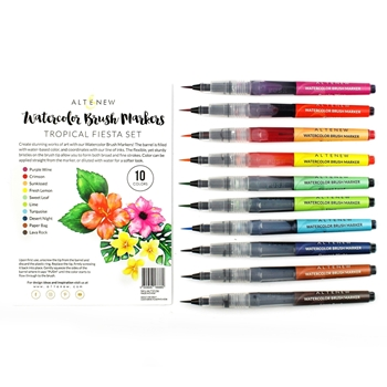 Altenew Watercolor Brush Markers TROPICAL FIESTA SET ALT2136