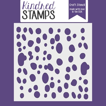 Kindred Stamps SPOTTED Stencil 29467676