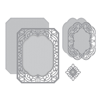S4-989 Spellbinders CANNETILLE RECTANGLE Etched Dies