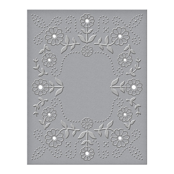 CEF-013 Spellbinders FLORAL REFLECTIONS Cut and Emboss Folder