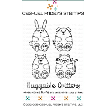 CAS-ual Fridays HUGGABLE CRITTERS Clear Stamps and Dies CFD1901