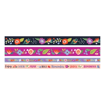 We R Memory Keepers DARK FLORAL Washi Tape 660652
