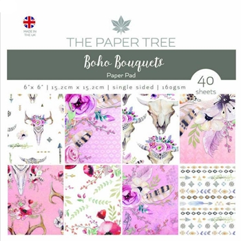 The Paper Tree BOHO BOUQUETS 6x6 Paper Pad ptc1016