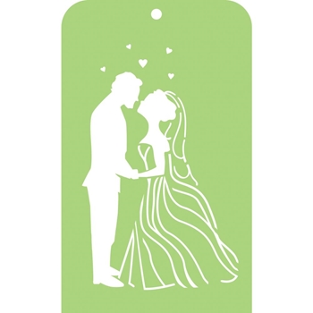 Kaisercraft BRIDE AND GROOM Mini Designer Template Stencil IT053