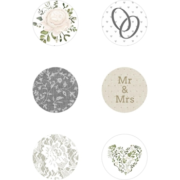 Kaisercraft TWO SOULS Curios Glass Dome Adhesive Backed Embellishments CR205