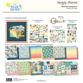 Simple Stories SUNSHINE AND BLUE SKIES 12 x 12 Collector's Essential Kit 10630