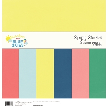 Simple Stories SUNSHINE AND BLUE SKIES 12 x 12 Basics Kit 10728