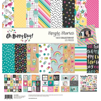 Simple Stories OH HAPPY DAY 12 x 12 Collection Kit 10660