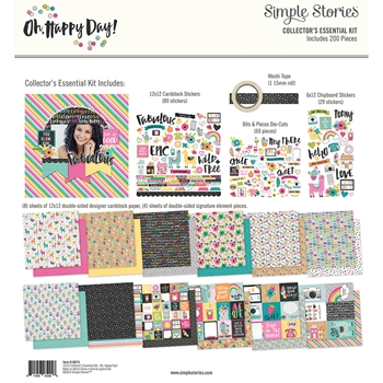 Simple Stories OH HAPPY DAY 12 x 12 Collector's Essential Kit 10678
