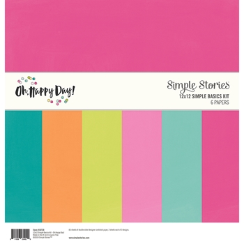 Simple Stories OH HAPPY DAY 12 x 12 Basics Kit 10729