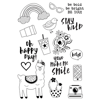 Simple Stories OH HAPPY DAY Stamp Set 10749