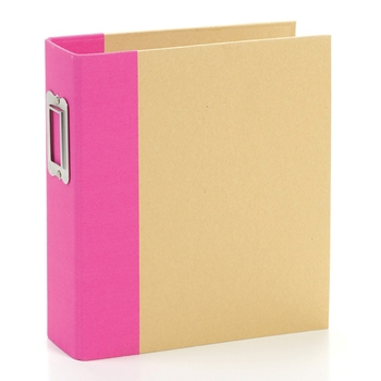 Simple Stories PINK 6 x 8 Snap Binder 10732