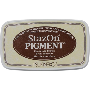 Tsukineko Stazon CHOCOLATE BROWN Pigment Ink Pad szpig041