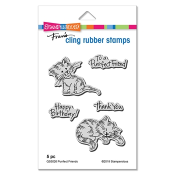 Stampendous Cling Stamp Set PURRFECT FRIENDS qs5026