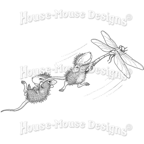 Stampendous, House Mouse Dragonfly Ride