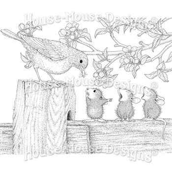 Stampendous Cling Stamp TWEET TREAT hmcr129 House Mouse
