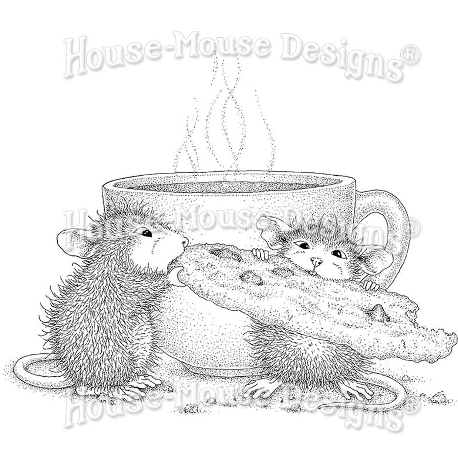 Stampendous, House Mouse Cookie Crumble Cling Stamp