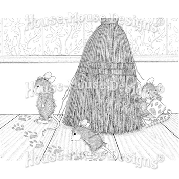 Stampendous Cling Stamp CAT TRACKING hmcr128 House Mouse