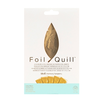 We R Memory Keepers GOLD FINCH Foil Quill Sheets 660667