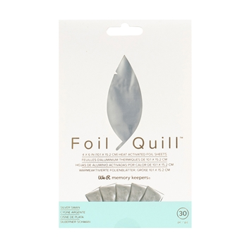 We R Memory Keepers SILVER SWAN Foil Quill 4x6 Sheets 660668